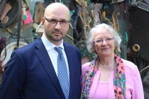James Honeyborne, BBC und Gesine Meißner, MEP aD